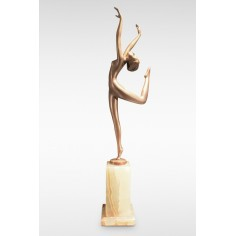 """Ecstasy"" by Josef Lorenzl Original Art Deco Bronze Figurine"
