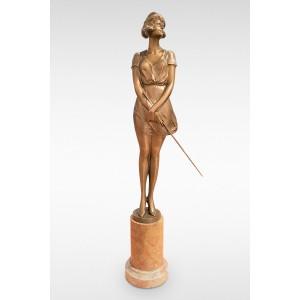 The Riding Whip by Bruno Zach Original Art Deco Bronze