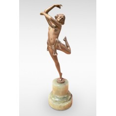 Erotic Dancer by Bruno Zach Original Art Deco Bronze