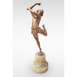 Erotic Dancer by Bruno Zach Original Art Deco Bronze