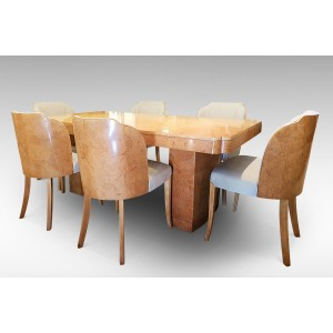 Epstein Brothers Designed Art Deco Dining Suite