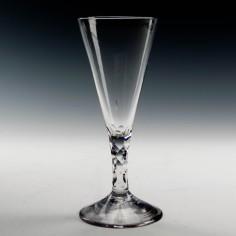 Facet Cut Stem Ale Glass c1780