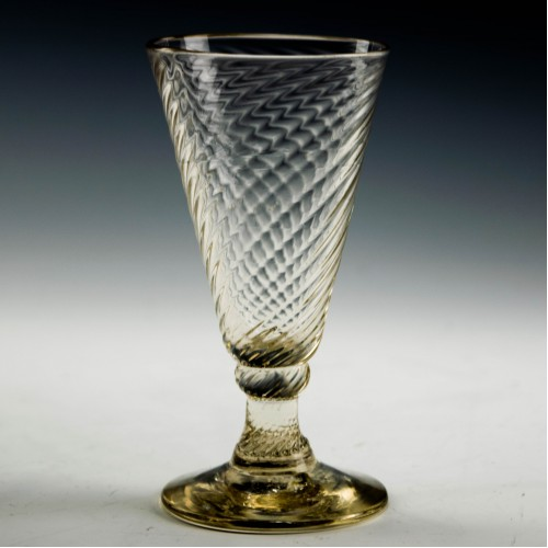 Wrythen Moulded Georgian Ale Glass c1780