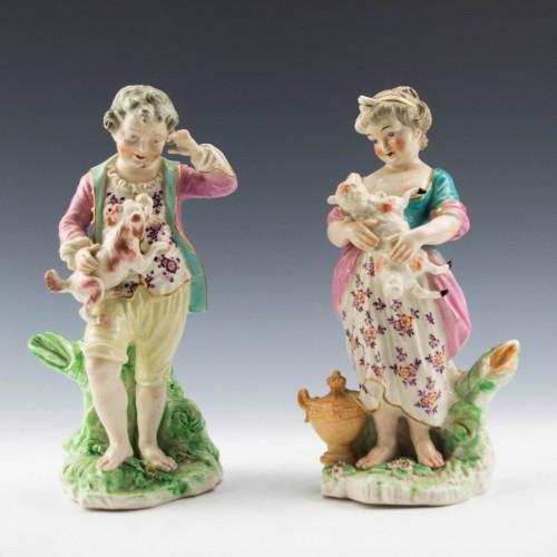 Derby Porcelain French Shepherd and Shepherdess c1790