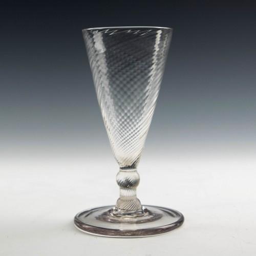Fine Wrythen Moulded Georgian Ale Glass c1780