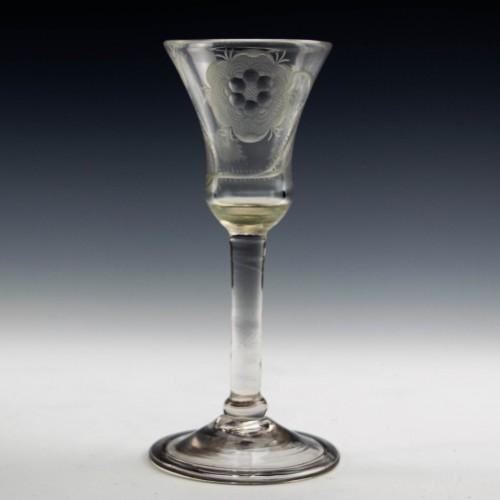 Jacobite Plain Stem Wine Glass c1740