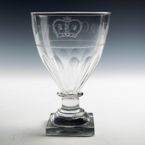 King and Constitution Engraved Georgian Rummer c1800