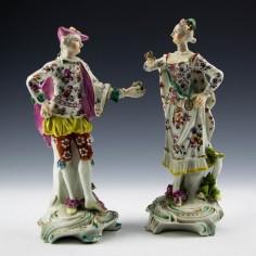 Pair of Derby Porcelain Ranelagh Dancers c1770