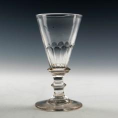 Petal Moulded Georgian Gin Glass c1800