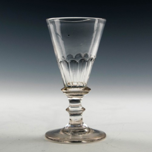 Petal Moulded Georgian Gin Glass c1800