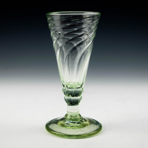 Somerset Wrythen Moulded Georgian Ale Glass c1780