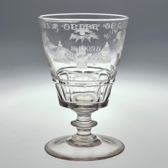 Odd Fellows Engraved Georgian Rummer c1830