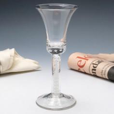 Georgian Style Double Series Opaque Twist Wine Glass c1920