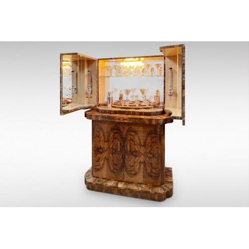 Epstein Original Art Deco Large Cocktail Cabinet