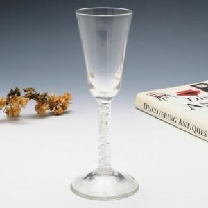 Georgian Double Series Mercury Twist Ale Glass c1750