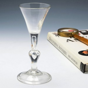 Kit Kat Baluster Stem Georgian Wine Glass c1740