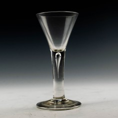 Plain Stem Georgian Wine Glass c1750