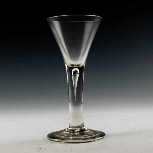 Plain Stem Georgian Wine Glass c1750