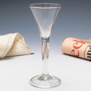 Georgian Plain Stem Wine Glass c1745