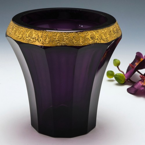 A Moser Karlsbad Amethyst Glass Vase c1910