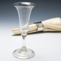 Large Bowl Balustroid Stem Wine Glass c1745