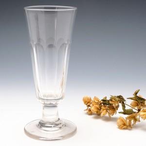Petal Cut Tall Ale Glass c1840