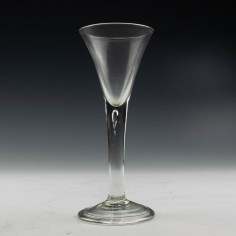 Georgian Plain Stem Wine Glass c1745