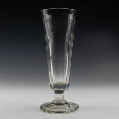 Tall Petal Cut Victorian Ale Glass c1810