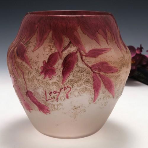Signed Legras Rubis Series Vase c1910