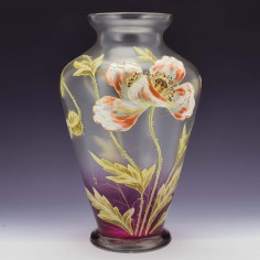French Enamelled Vase c1910