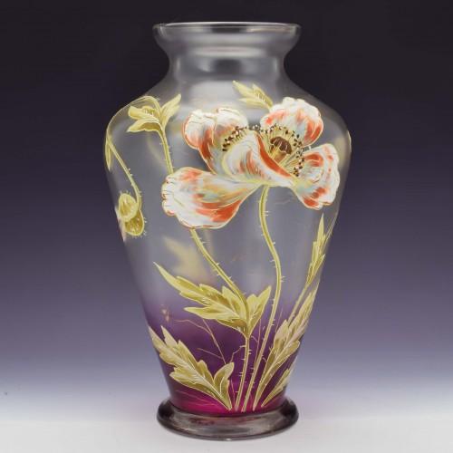 French Enamelled Vase c1910