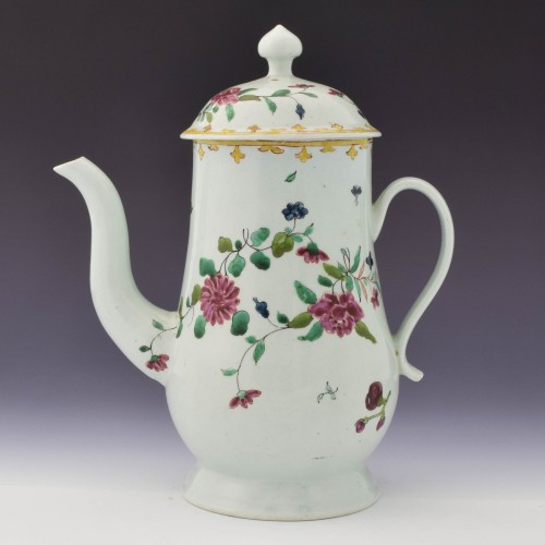 Chaffers Liverpool Porcelain Coffee Pot c1760