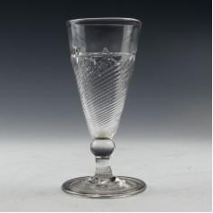 Flamiform Georgian Ale Glass c1740