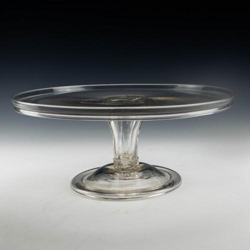 Large Georgian Glass Tazza c1780