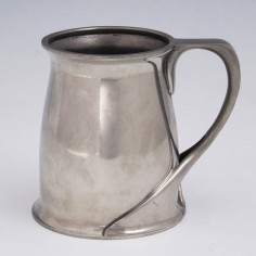 Oliver Baker Designed Tudric Polished Pewter Tankard for Liberty 1902