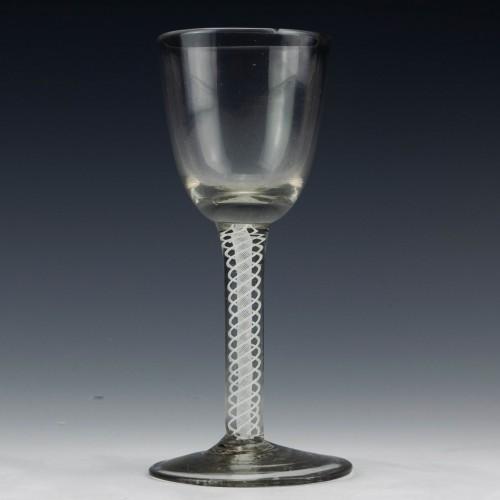 Dutch Double Series Opaque Twist Wine Glass c1790