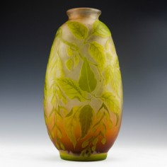 Very Large Signed Gallé Cameo Vase c1910