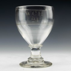 Engraved 19th Century Glass Rummer c1820