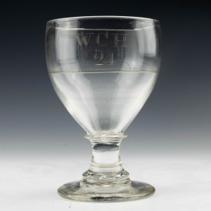 Engraved 19th Century Glass Rummer c1820