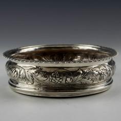 George III Sterling Silver Coaster London 1784