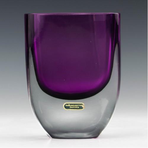 Smålandshyttan Amethyst Glass Vase c1965