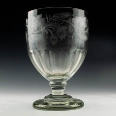 19th Century Engraved Serving Rummer