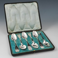 A Set of Six Sterling Silver Spoons London 1826