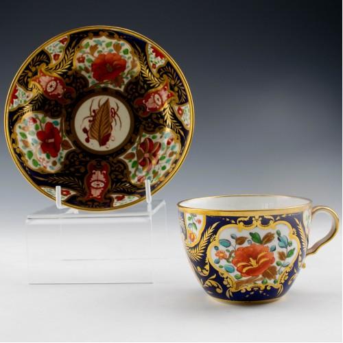 A Spode Porcelaian Imari Pattern 1216 Teacup and Saucer c1810