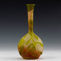 Emile Gallé Solifleur Cameo Vase c1900