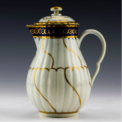 Worcester Porcelain Gold Queen's Pattern Milk Jug c1780