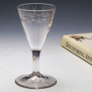 Wheel Engraved Georgian Gin Glass c1770