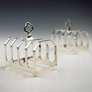 Two George V Sterling Silver Toast Racks London 1934