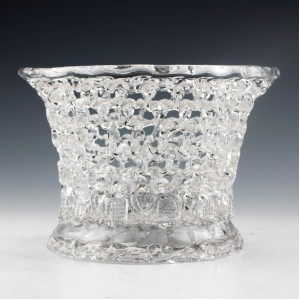 Bristol Lead Glass Traforato Basket c1780