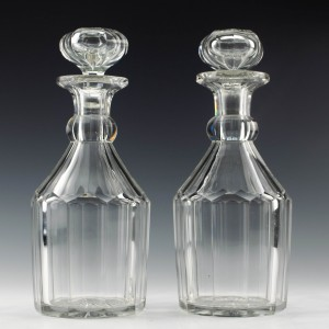 Pair of  Early Victorian Glass Decanters c1840